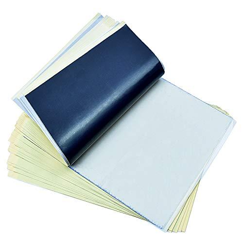 Tattoo Matrizenpapier cococity A4 Größe Carbon Tattoo Papier Tranferpapier Set Druckerpapier ohne Transfertinte Kopierpapier Pauspapier Schablone für Tattoo Drucker Maschine (30 Blätter)