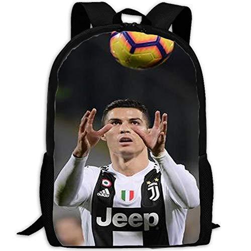 Kinder Cristiano Ronaldo Rucksack Mode Kinder Schultasche Jungen Und Mädchen Großformat Leinwand Reisetasche Lunch Bag Kindergeschenke