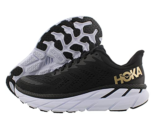 HOKA ONE ONE Clifton 7 Womens Shoes Size 8.5, Color: Black/Bronze