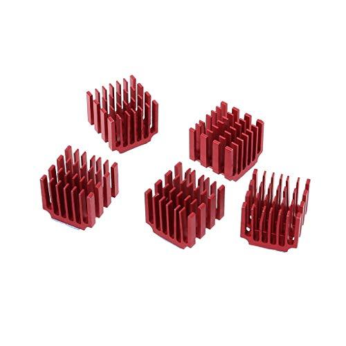 ZOUCY 5 stuks Heatsink Koeling Warmtegootsteen Blok Kit Aluminium Koeler Lijm Thermische Tape