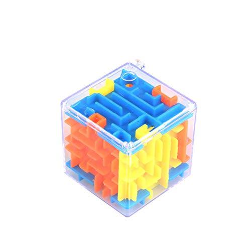SZXCX Pequeño Laberinto Tridimensional Laberinto mágico Universal 3D Juguete de Inteligencia para bebés Juguetes educativos Regalos portátiles para niños - Multicolor