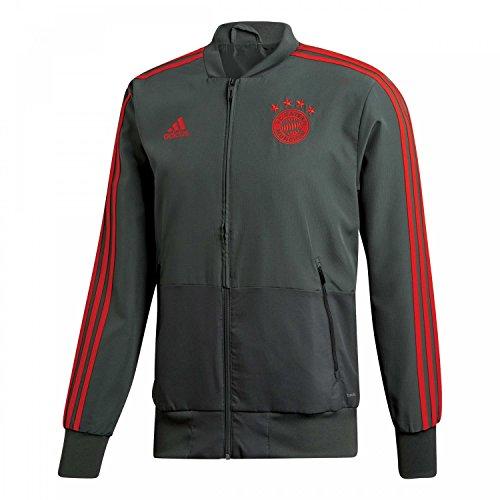 adidas Herren Präsentationsjacke 18/19 FC Bayern Presentation Jacket, utility ivy/red, S, CW7297
