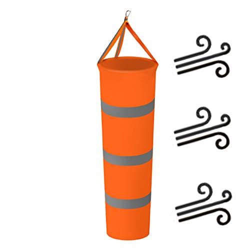 HYCOPROT Windsäcke Windrichtungsmessung Stärke Anzeige mit reflektierendem Gürtel Sockentasche Rip-Stop Wasserdicht Glatter Sonnenschutz Korrosionsbeständigkeit Outdoor-100cm