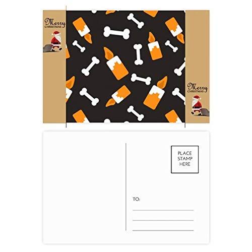 Kaars Bone Halloween Halloween Kerstman Gift Ansichtkaart Thanks Card Mailing 20 stks