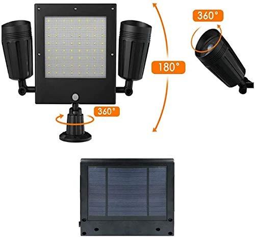 seiyishi ソーラーライト 屋外 センサーライト パネル型 玄関 庭 照明 太陽光充電 人感センサー 防水 広い照明範囲 ソーラー充電式 常夜灯 SY-TYN-01 (ブラック-2)