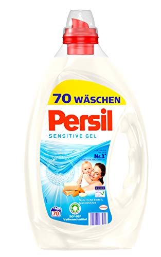 Persil Sensitive Gel, Flüssigwaschmittel, 140 (2 x 70) Waschladungen für Allergiker und Babies, hautfreundlich