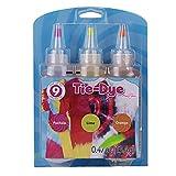 24 Colors Tie Dye Kit DIY Clothing Graffiti Fabric Textile One-Step Tie-Dye Kit DIY Design Safe Dyes Fun DIY-A 3 Colors_1