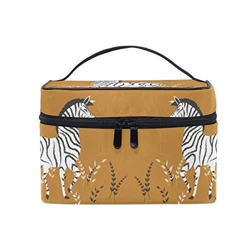 Art Zebra Cute Trousse Sac de Maquillage Toilette Cas Voyage Sac Organisateur Cosmétique Boîtes pour Les Femmes Filles