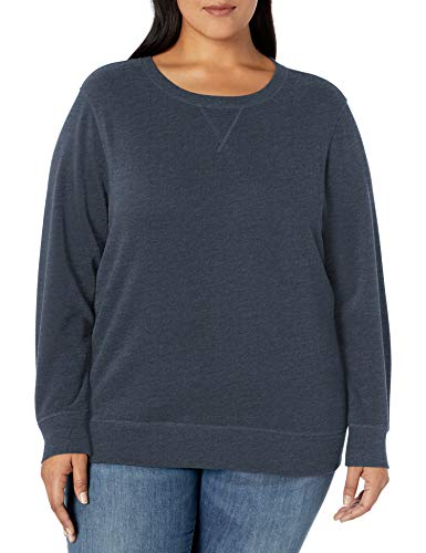 Amazon Essentials Plus Size French Terry Fleece Crewneck Sweatshirt fashion-hoodies, Navy Heather, 2X