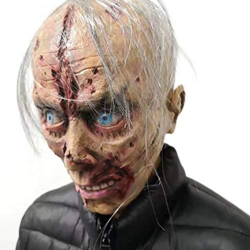 GT Halloween Látex, Adulto, Terror, Terrorífico, Adecuado
