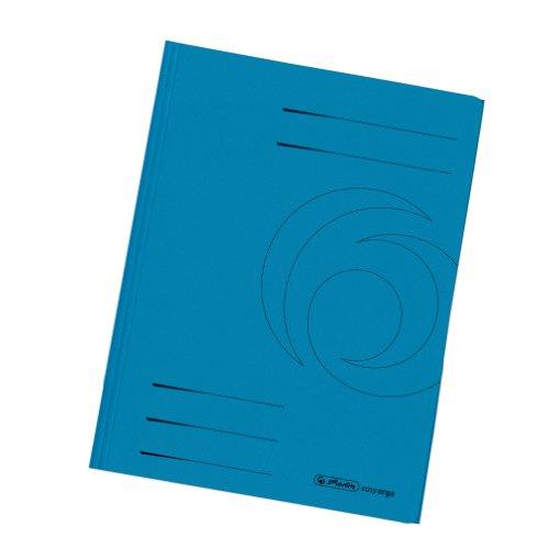 Herlitz 11076452 Einschlagmappe A4 recycling intensiv blau, Manilakarton, 320 g/qm 10er Packung