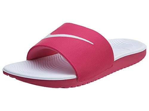 Nike Nike Mädchen Kawa Slide GS/PS Dusch- & Badeschuhe, Mehrfarbig (Vivid Pink / White), 38.5 EU
