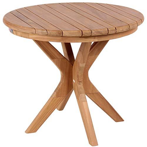 Mr. Deko Teak Burton - Tisch - Gartentisch - eckig/rund - klappbar - Outdoormöbel - Teakholz - für Balkon, Terrasse, Wintergarten, Garten