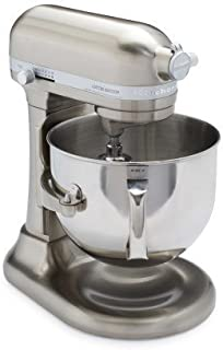 KitchenAid Pro Line KitchenAid Pro Line Nickel Stand Mixer KSM7588PNK, 7 qt, Brushed Nickel (Renewed)