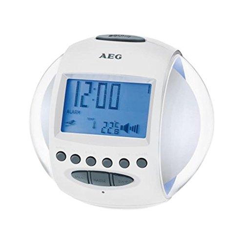 AEG MRC 4117 Uhrenradio, Datums-und Temperaturanzeige, Nature Sounds, Rhytmischer Farbwechsel passend zu Nature Sounds und Melodien