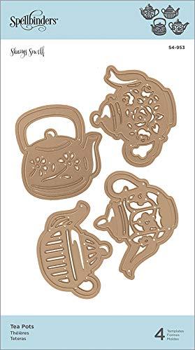 Spellbinders S4-953 Shapeabilities Teekanne geätzt/Waffelschablone, Metall