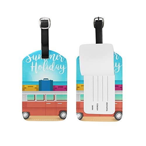 FANTAZIO Tag for Travel Bag VW Camper and Beach x 1