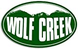 Oval Wolf Creek Mountain BG 3M Reflective Sticker  Snow ski Resort