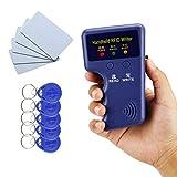 YAVIS 125khz RFID ID Copiadora Duplicador Teclear Copia Lector Escritor ID Tarjeta Clonador Programador + 10pcs Escribir EM4305/T5577 Key Cards Llavero