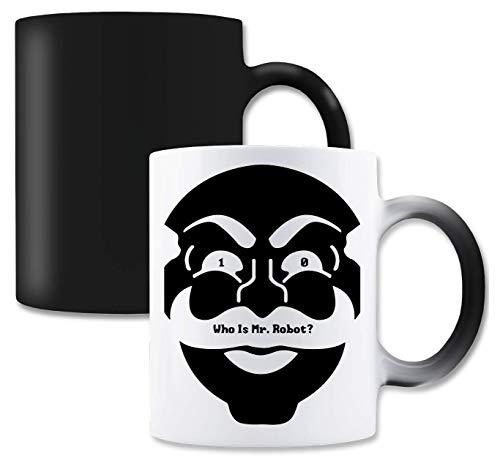 RaMedia 10 Who Is Mr Robot Mask Art Cyber Hacker Elliot TV Taza...
