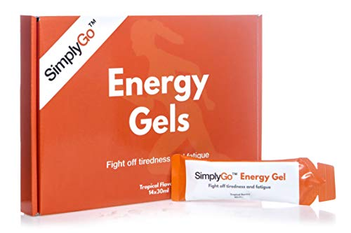 Energy Gels from SimplyGo | Designed for Running or Cycling | High Caffeine Sachets with Added Vitamins
