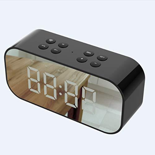 FASD Drahtloser Bluetooth V5.0 Beweglicher Lautsprecher Mit HD Sound Und Bass-Mini-Spiegel Mit Screen Clock Kleinem Ton