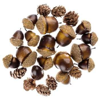 Pinecone & Acorn Mix Party Favor Treat Bags Party Supplies