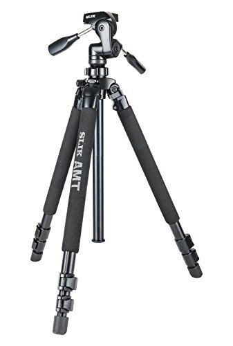 SLIK Pro 700DXQ AMT Tripod with 3-Way Pan & Tilt Head, for Mirrorless/DSLR Sony Nikon Canon Fuji Cameras and More - Black (615-316)