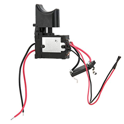Yosoo Health Gear Interruptor de gatillo de Taladro inalámbrico, Interruptor de Control de Velocidad de Taladro eléctrico de 7,2 V - 24 V