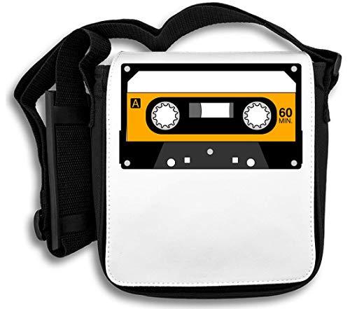 Minimalistic Yellow Cassette Tape schoudertas