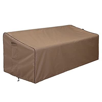 "Finnhomy Outdoor Patio Sofa Bench Seat Cover Waterproof Couch Chair Covers Fade Resistant Durable Heavy Duty Outdoor Furniture Bench Cover for Premium Protection, 78""x 35"" x 24""-32"""