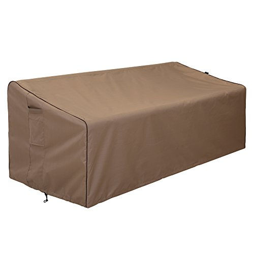 "Finnhomy Outdoor Patio Sofa Bench Seat Cover Waterproof Couch Chair Covers Fade Resistant Durable Heavy Duty Outdoor Furniture Bench Cover for Premium Protection, 78""x 35' x 24'-32'"