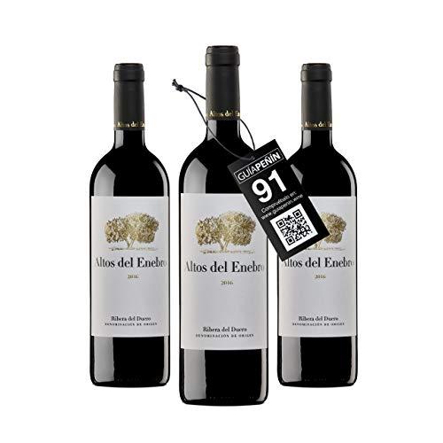 Bodegas Altos del Enebro - D.O. Ribera del Duero - Vino Altos del Enebro (crianza 15 meses en barrica) - Caja de 3 botellas de 750 ml