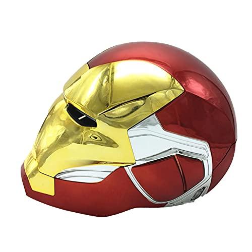Nuitab Casco de Iron Man para Niños Adultos con Control de Inducción Electrostática Vengadores Máscara Halloween Juego de Simulación Sombreros Regalo de Cumpleaños,Red Gold