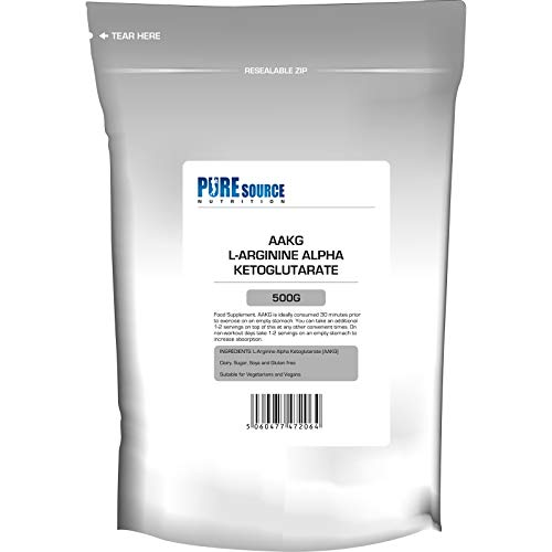 PSN Pure AAKG L-Arginine Alpha Ketoglutarate Unflavoured Powder (500g)