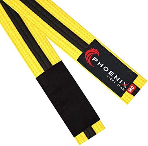 Jiu Jitsu Mixed Martial Arts BJJ Belt in Black A4 White Grey by Phoenix Fight Gear Orange and Blue Yellow A2 A1 for Professional MMA Sports Athletes Purple A3 A5 Sizes A0 Green