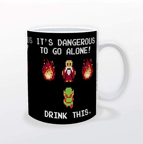 Pyramid America Zelda - Drink This Mug - 11 oz. Unique Ceramic Cup for Coffee, Cocoa & Tea Drinkers - Chip Resistant & Printed Both Sides