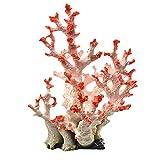 Xuebai Artificial Coral Plant Polyresin Adornos de Coral Grandes Decoración de Acuario para pecera Decoración de Paisaje 8.7'x7.1 x11.4 Coral Artificial como Muestran Las imágenes