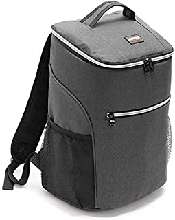 20L Cooler Bag Thermo, 600D Oxford Lunch Picnic Box Insulated Cool Backpack ice Pack Fresh Carrier Thermal Shoulder Bags f...