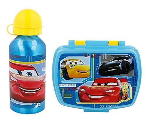 Set van aluminium waterfles en lunchbox voor kinderen, voor meisjes, lekvrij, BPA-vrij, 400 ml
