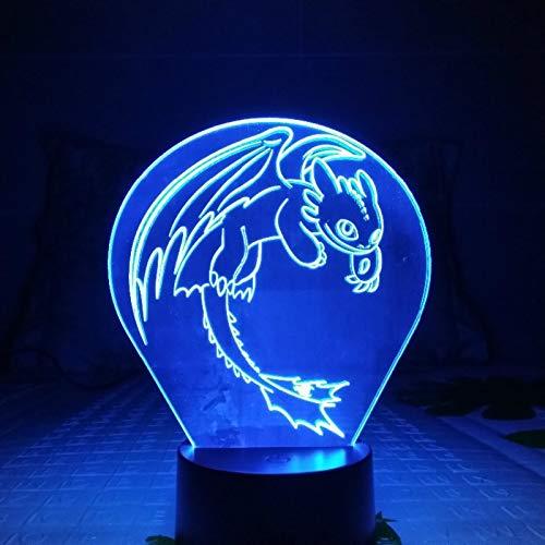 Hoe U Uw Draak Nachtlampje LED 3D Fantoom Usb-Aanraaksensor Rbb Kindercadeau Nachtwoede Bureaulamp Bureaudecoratie Kunt Trainen