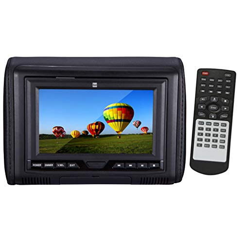 """Price comparison product image Dual DVH704HD 7"""" Wide Screen LCD Headrest Monitor with DVD Player and DualMirror Technology"""