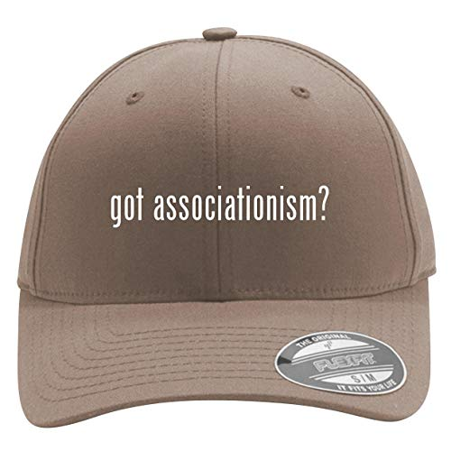 got Associationism? - Men's Flexfit Baseball Cap Hat, Khaki, Large/X-Large