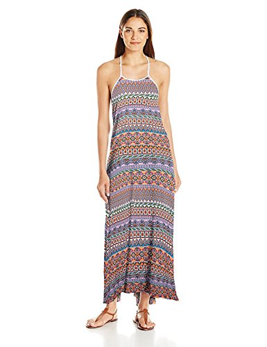 Jessica Simpson Damen Kleid Versailles Rayon Strap Back Cover-up Dress - Mehrfarbig - Small