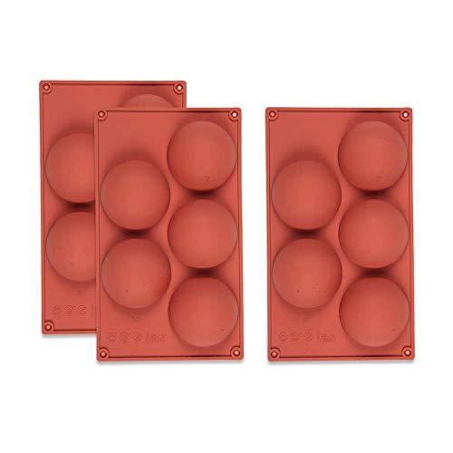 Stampi In Silicone A 5 Cavità Felicia, 3 Confezioni Stampi A Mezza Sfera, Stampi Per Dolci Da Forno A Forma Rotonda Budino Di Gelatina Fatto A Mano Cupola Di Sapone Mousse Stampi Per Cioccolato