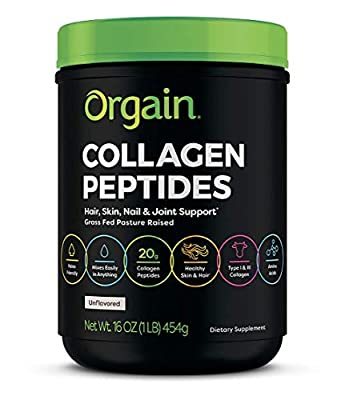 Orgain Grass Fed Hydrolyzed Collagen Peptides Protein Powder - (Packaging May Vary)