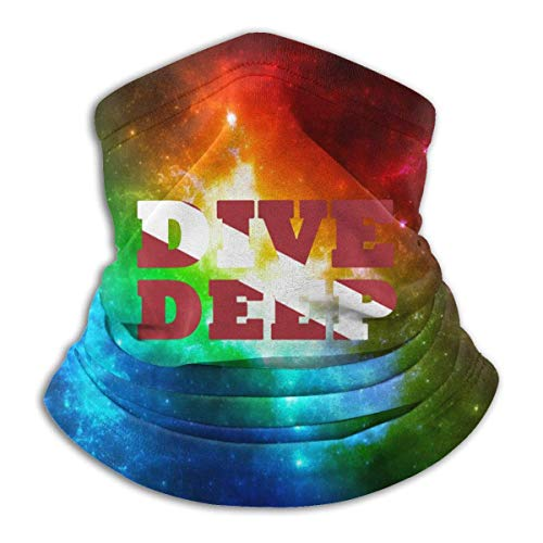 Teemoo S Tauchen DEEP Dive Flag Halswärmer Outdoor Gesicht Mundschutz Schild für Staub Winddichter Sportschild Schal Bandana