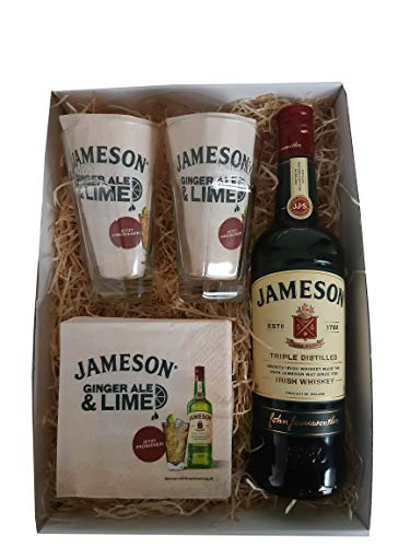 John Jameson Irish Whiskey, Original Whiskeygläser und Servietten