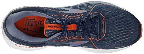 Brooks Men's Adrenaline GTS 21 Running Shoe, Navy/Red Clay/Gray, 12