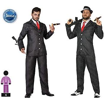 Atosa-54134 Disfraz Gangster, Color Negro, XL (54134): Amazon.es ...